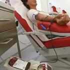 Drawing giving blood