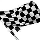 Black and white boxes, checkered flag
