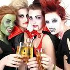 Girls dressed as vampires