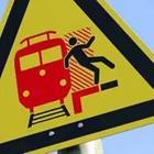 Danger on tracks sign, Don't trip