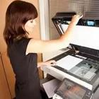 Girl using the copy machine