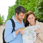 Man and woman looking at map