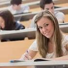 Girl sitting in lecture hall