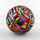 Round ball of different flags