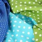 Blue and green polka dot sheets