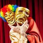 Comedic act, masks