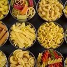 A group of pastas put together in a set order