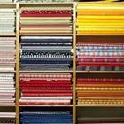 A row of different kinds of cloth