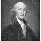 A black and white photo of George Washington