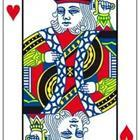 A playing card