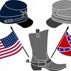 American and Confederate flags