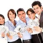 Group of people holding dollar bills