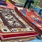 A bunch of different carpets