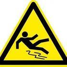Sign with person falling
