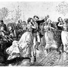 Old fashioned photo of people dancing