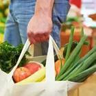 Bag of groceries vegetables