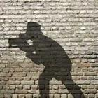 Shadow of photographer with camera