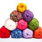 A pile of different colored wool