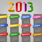 The year 2013 in different colors